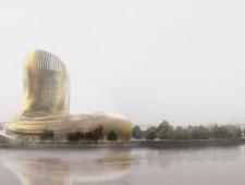 Cité des civilisations du vin : le chantier phare, s'implique dans la biennale d'architecture